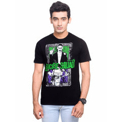 Joker and Harley Quinn Poster Black T-Shirt for Men