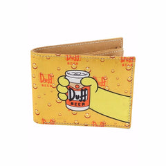 Duff Beer Can Here's Homer Canvas Wallet for Men and Women - Multicolor