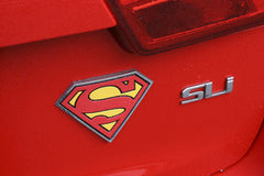 Superman Fan Emblems - Classic Logo Chrome Emblem
