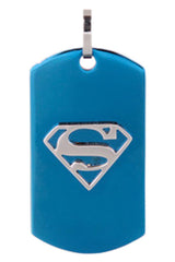 Superman Logo Embedded Dog Tag