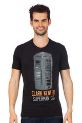Superman Phone Booth Clark Kent In Superman Out Navy Blue T-Shirt for Men