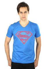 Superman Logo Dark Blue T-Shirt for Men