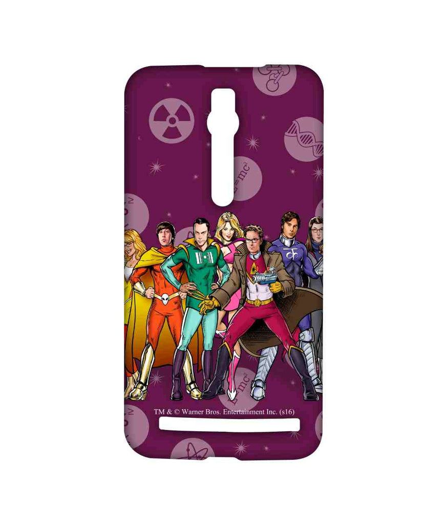 Big Bang Theory Leonard Sheldon Raj Howard and Penny BBT Superheroes Sublime Case for Asus Zenfone 2