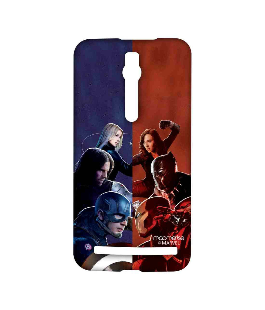 Captain America: Civil War Ironman Captain America Bucky Barnes Black Panther Black Widow and Agent 13 Good vs. Right Sublime Case for Asus Zenfone 2
