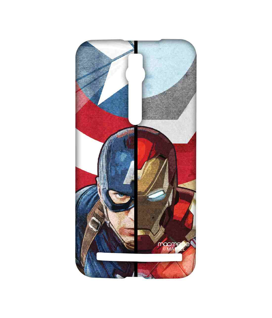 Civil War Captain America Man vs. Machine Sublime Case for Asus Zenfone 2