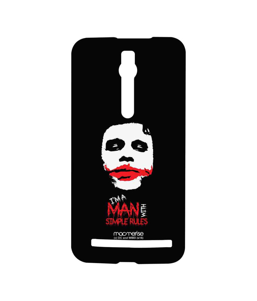Batman The Dark Knight Joker Man With Simple Rules Sublime Case for Asus Zenfone 2