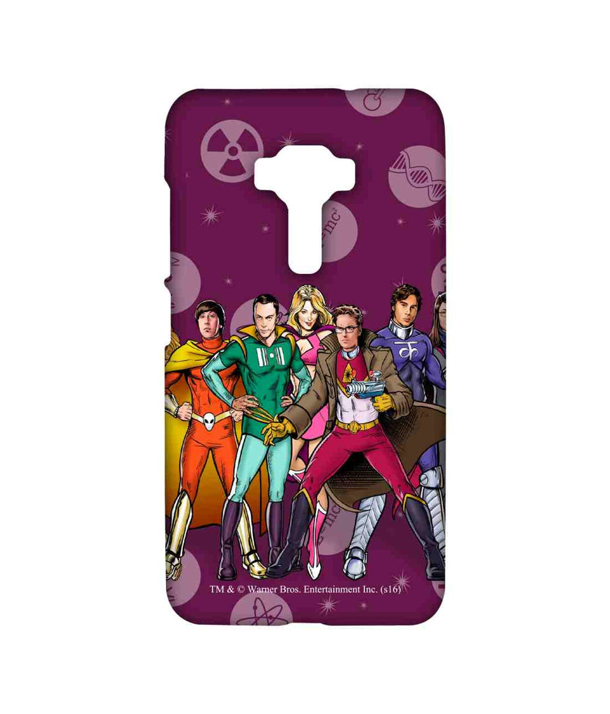 Big Bang Theory Leonard Sheldon Raj Howard and Penny BBT Superheroes Sublime Case for Asus Zenfone 3 ZE552KL