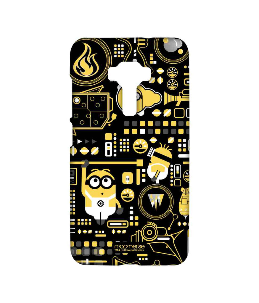 Despicable Me Minions Grus Work Mess Sublime Case for Asus Zenfone 3 ZE552KL