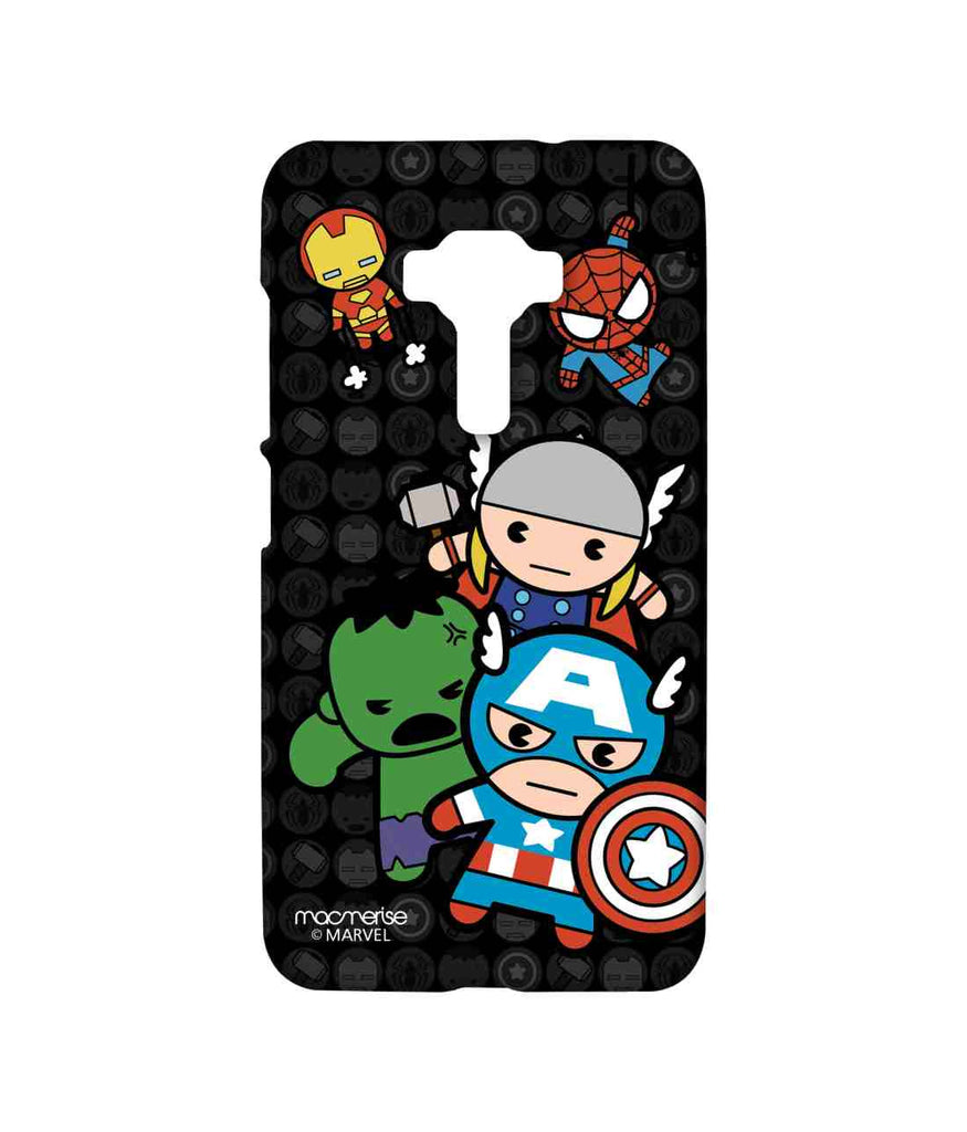 Kawaii Art Ironman Hulk Captain America Thor and Spiderman Kawaii Art Marvel Comics Sublime Case for Asus Zenfone 3 ZE552KL