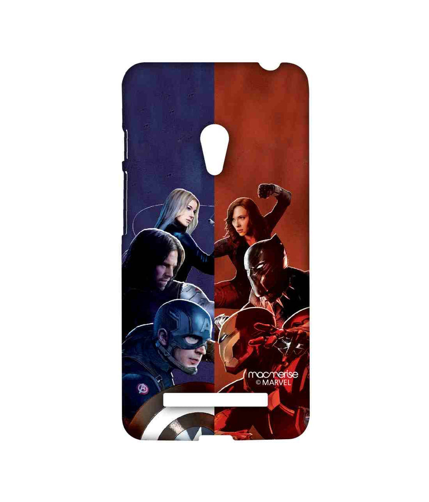Captain America: Civil War Ironman Captain America Bucky Barnes Black Panther Black Widow and Agent 13 Good vs. Right Sublime Case for Asus Zenfone 5