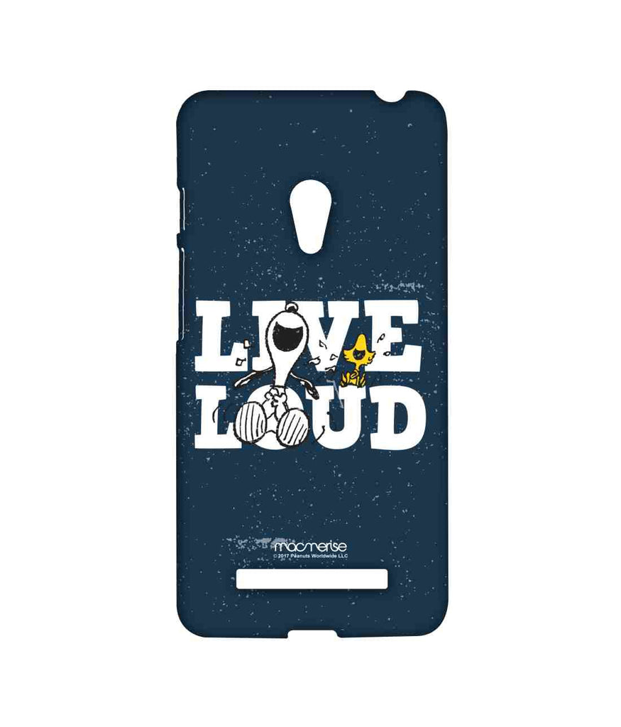 Snoopy Live Loud Blue Sublime Case for Asus Zenfone 5