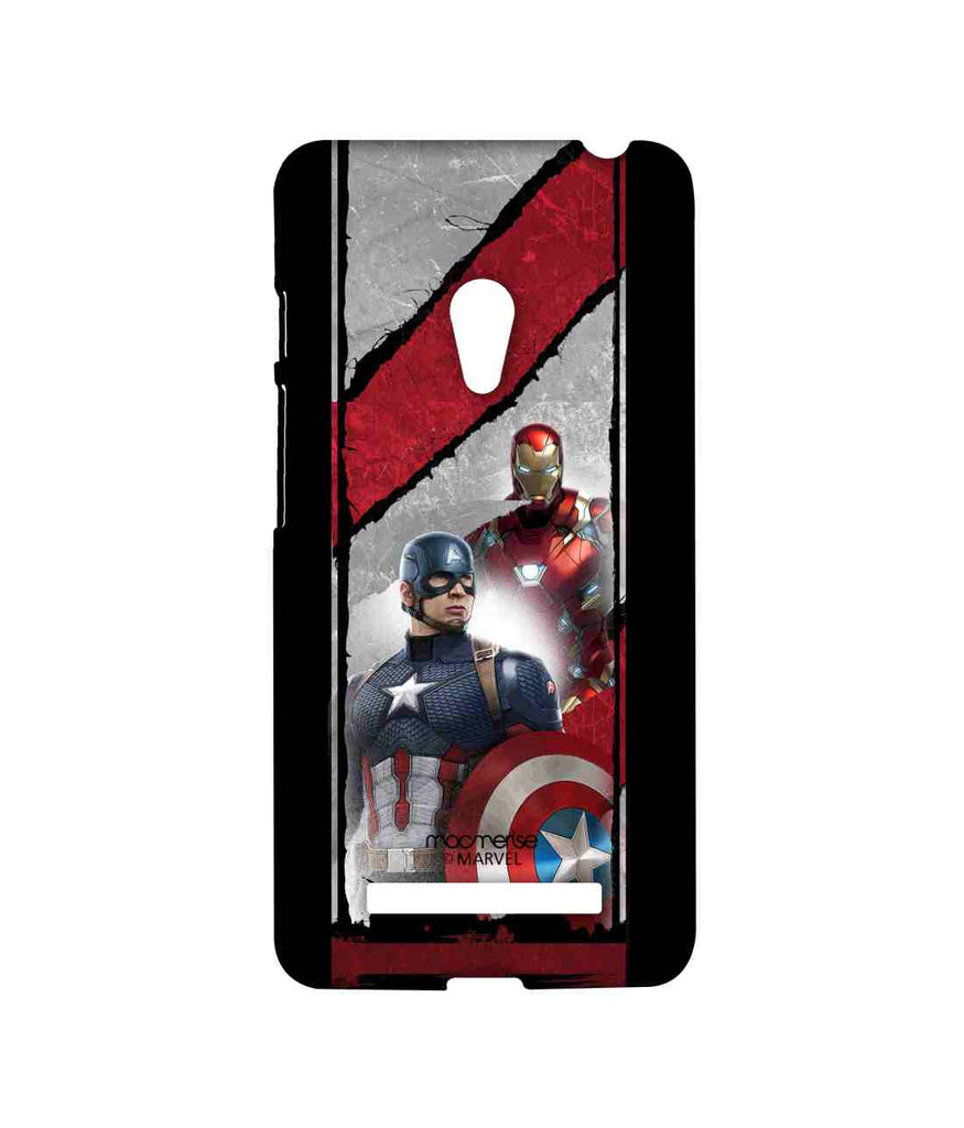 Captain America: Civil War Ironman and Captain America The Civil War Sublime Case for Asus Zenfone 5
