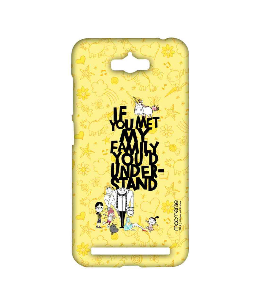 Despicable Me Gru Dru Lucy Agnes Edith and Margo Family Woes Sublime Case for Asus Zenfone Max