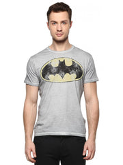 Batman Fadding Logo Grey T-Shirt for Men