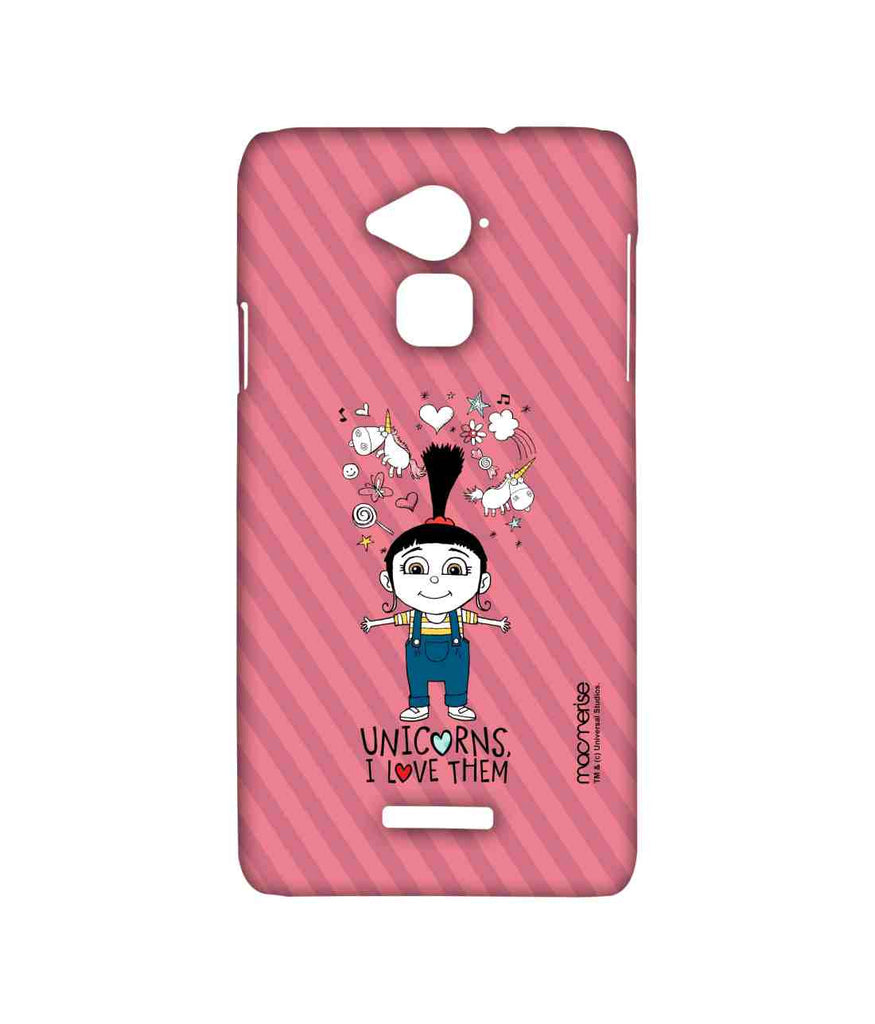 Despicable Me Agnes Unicorn Love Sublime Case for Coolpad Note 3