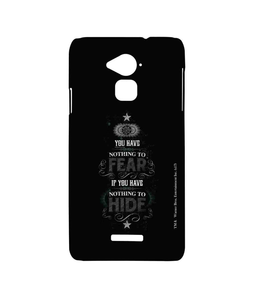 Harry Potter Nothing to Hide Sublime Case for Coolpad Note 3