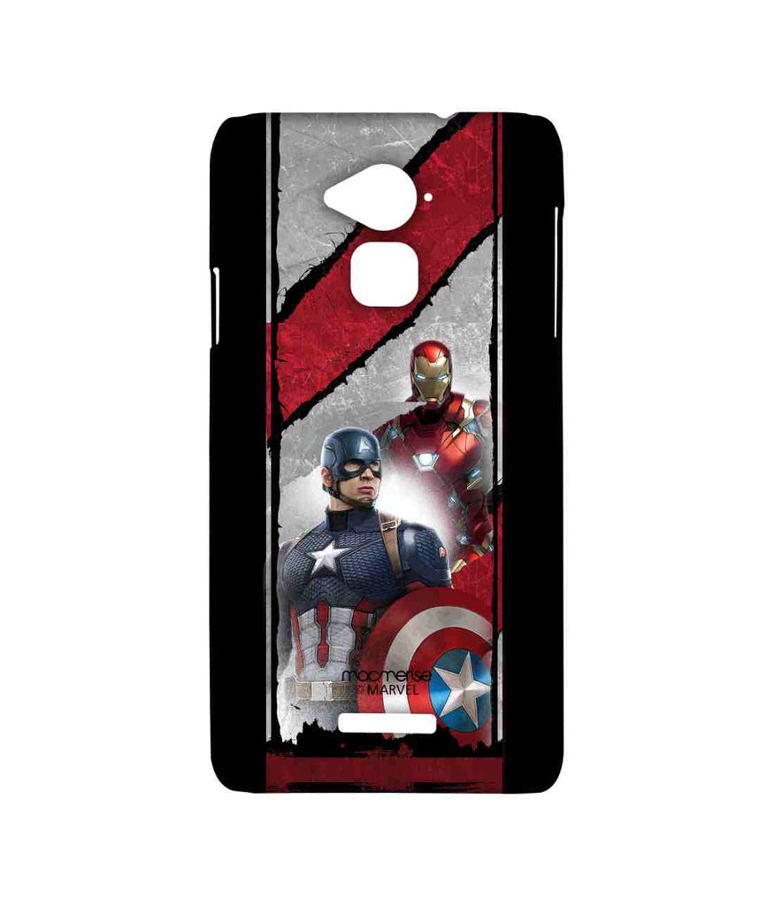 Captain America: Civil War Ironman and Captain America The Civil War Sublime Case for Coolpad Note 3
