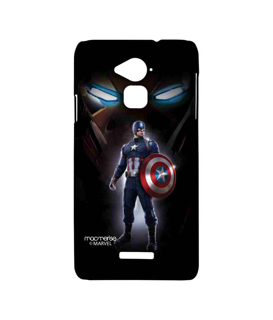 Captain America: Civil War Ironman and Captain America Watchful Captain America Sublime Case for Coolpad Note 3