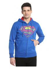 Superman Fadding Logo Blue Hoodies for Men