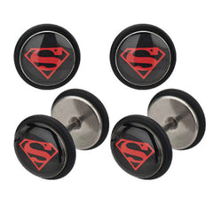 Superman Logo Black Studs