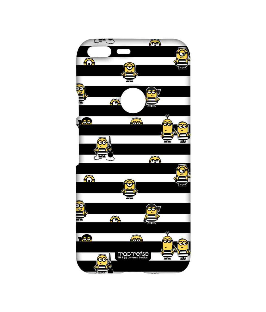 Despicable Me Minions Pattern Black Stripes Minions Sublime Case for Google Pixel