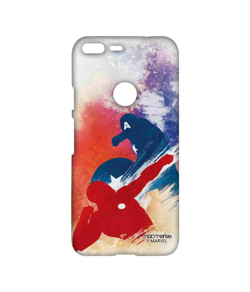 Captain America: Civil War Ironman and Captain America Superhero Force Sublime Case for Google Pixel