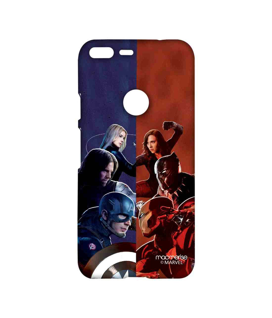 Captain America: Civil War Ironman Captain America Bucky Barnes Black Panther Black Widow and Agent 13 Good vs. Right Sublime Case for Google Pixel XL