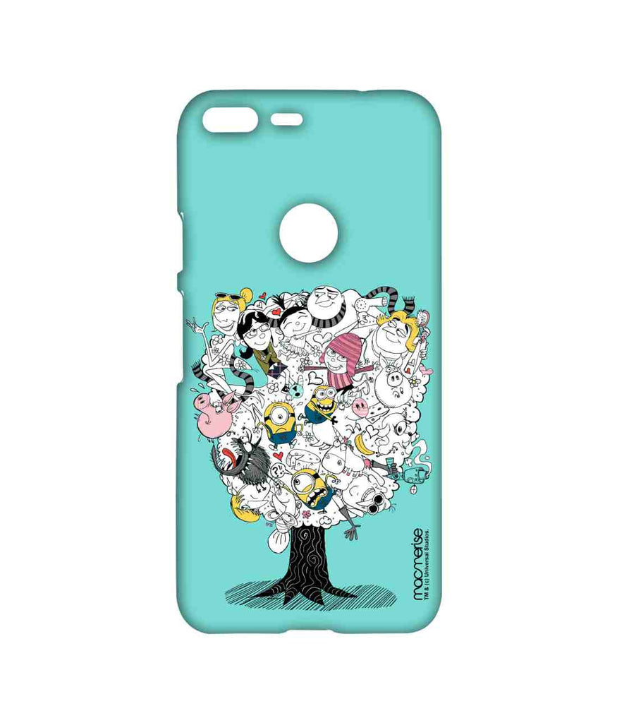 Despicable Me Gru Lucy Agnes Edith Margo Minions Professor Nefario and Grus Mom Grus Family Tree Sublime Case for Google Pixel XL