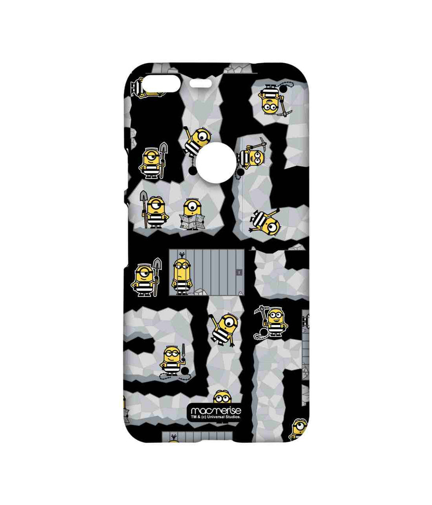 Despicable Me Minions Prison Break Black Sublime Case for Google Pixel XL