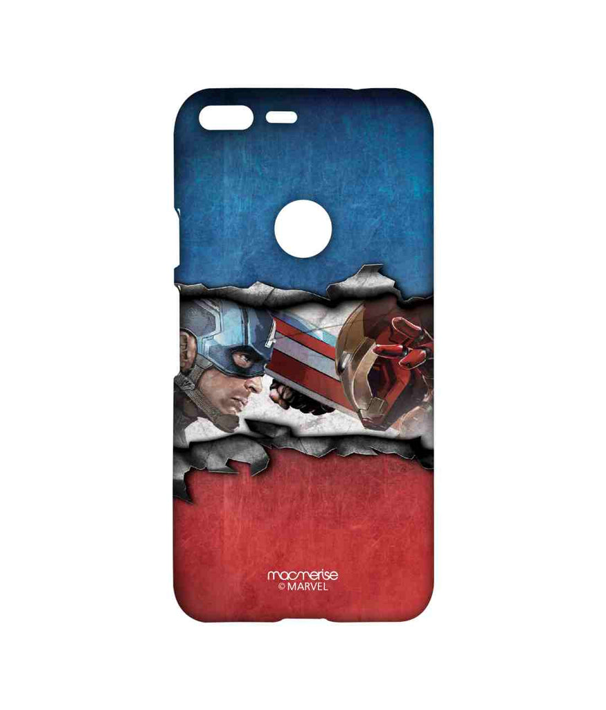 Captain America: Civil War Ironman and Captain America Torn Apart Sublime Case for Google Pixel XL