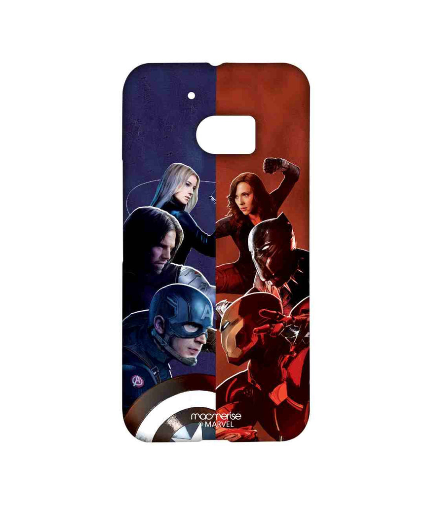 Captain America: Civil War Ironman Captain America Bucky Barnes Black Panther Black Widow and Agent 13 Good vs. Right Sublime Case for HTC 10