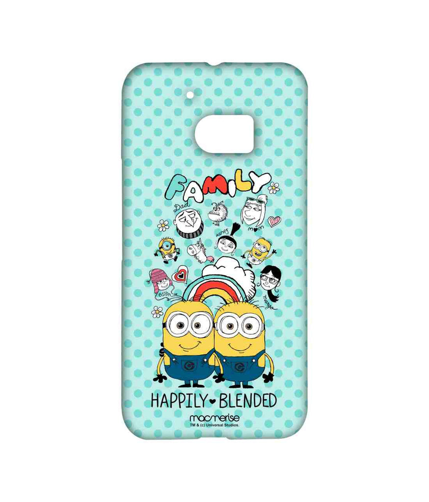 Despicable Me Gru Dru Lucy Agnes Edith Margo and Minions Happily Blended Teal Sublime Case for HTC 10