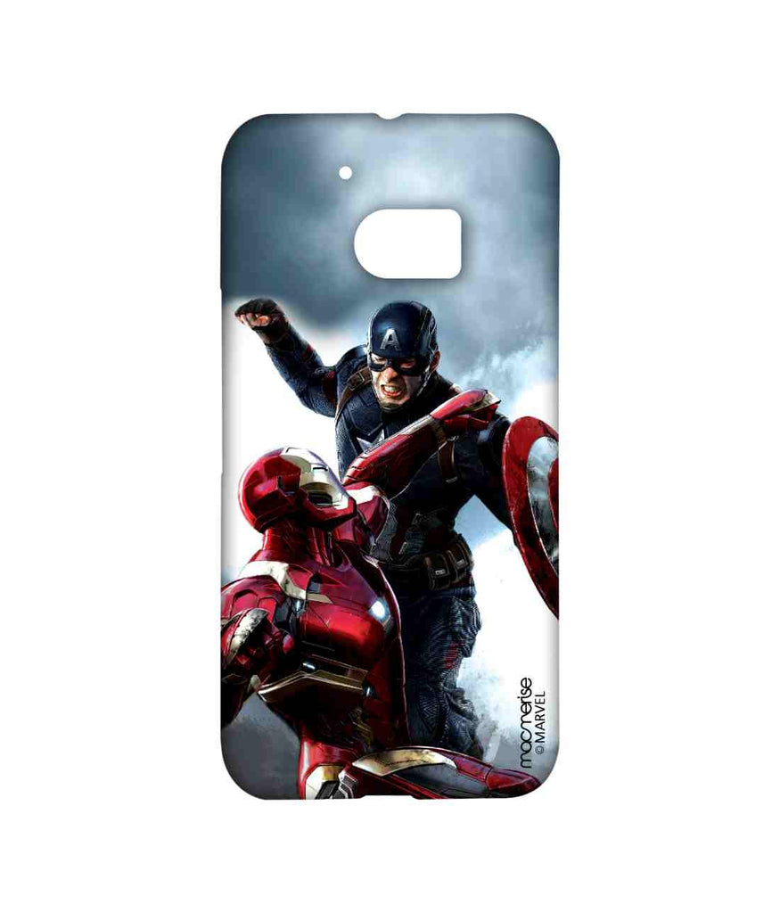 Captain America: Civil War Ironman and Captain America War is Here Sublime Case for HTC 10