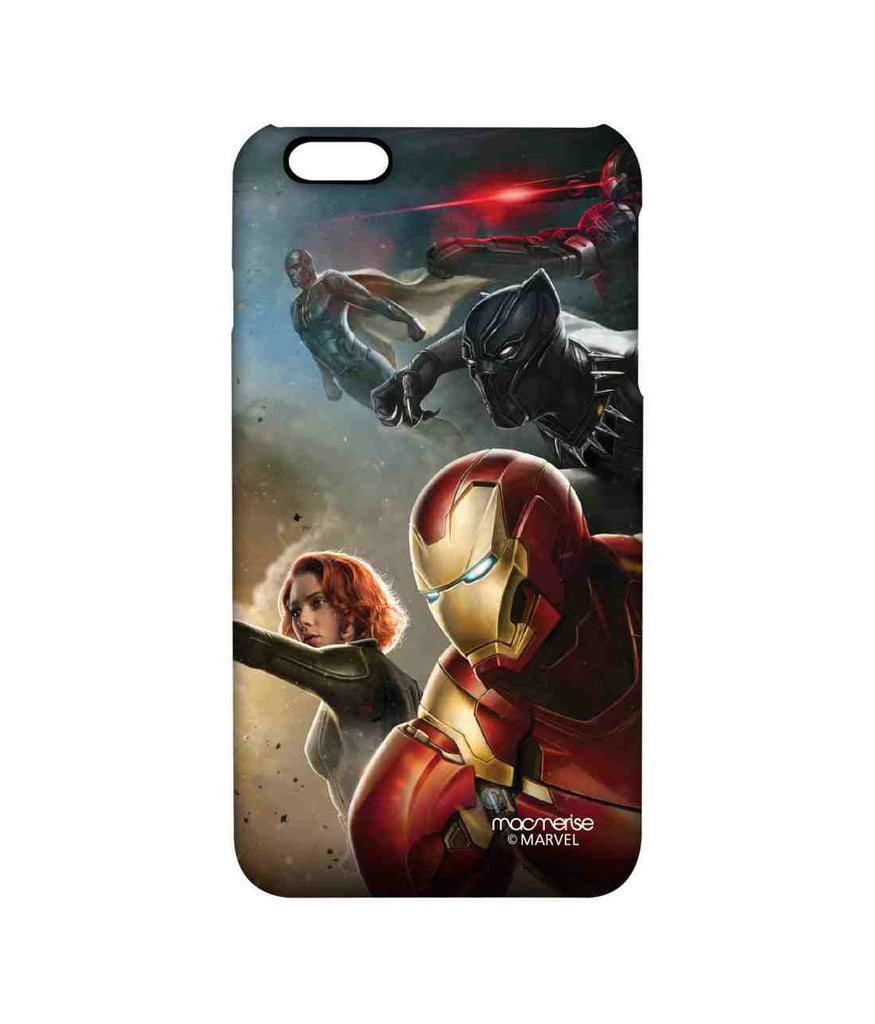 Captain America: Civil War Ironman Vision War Machine Black Widow and Black Panther Team Ironman Pro Case for iPhone 6 Plus