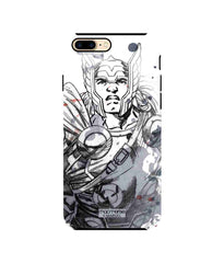 Thor Sketch Tough Case for iPhone 8 Plus - Multicolor