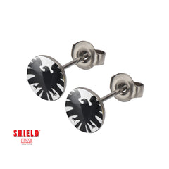 Captain America Earrings & Studs - Shield Logo Studs