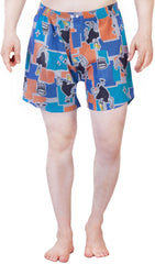 Johnny Bravo plus Crown Navy Blue Boxer for Men
