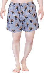 Johnny Bravo The Style Boy Blue Boxer for Men