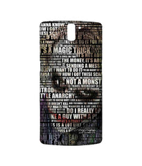 Batman The Dark Knight Joker Quotes Sublime Case for OnePlus One