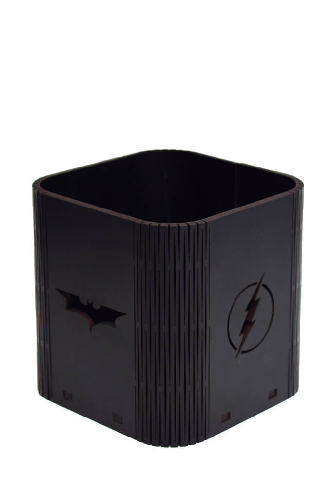 Justice League Desktop Collectibles Black - Pen Stand Planet Superheroes