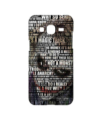 Batman The Dark Knight Joker Quotes Sublime Case for Samsung J3 (2016)