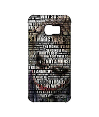 Batman The Dark Knight Joker Quotes Pro Case for Samsung S6 Edge