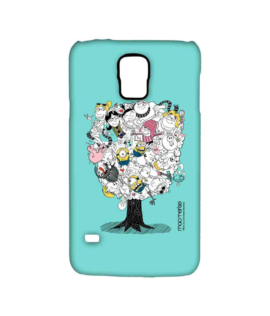 Despicable Me Gru Lucy Agnes Edith Margo Minions Professor Nefario and Grus Mom Grus Family Tree Sublime Case for Samsung S5