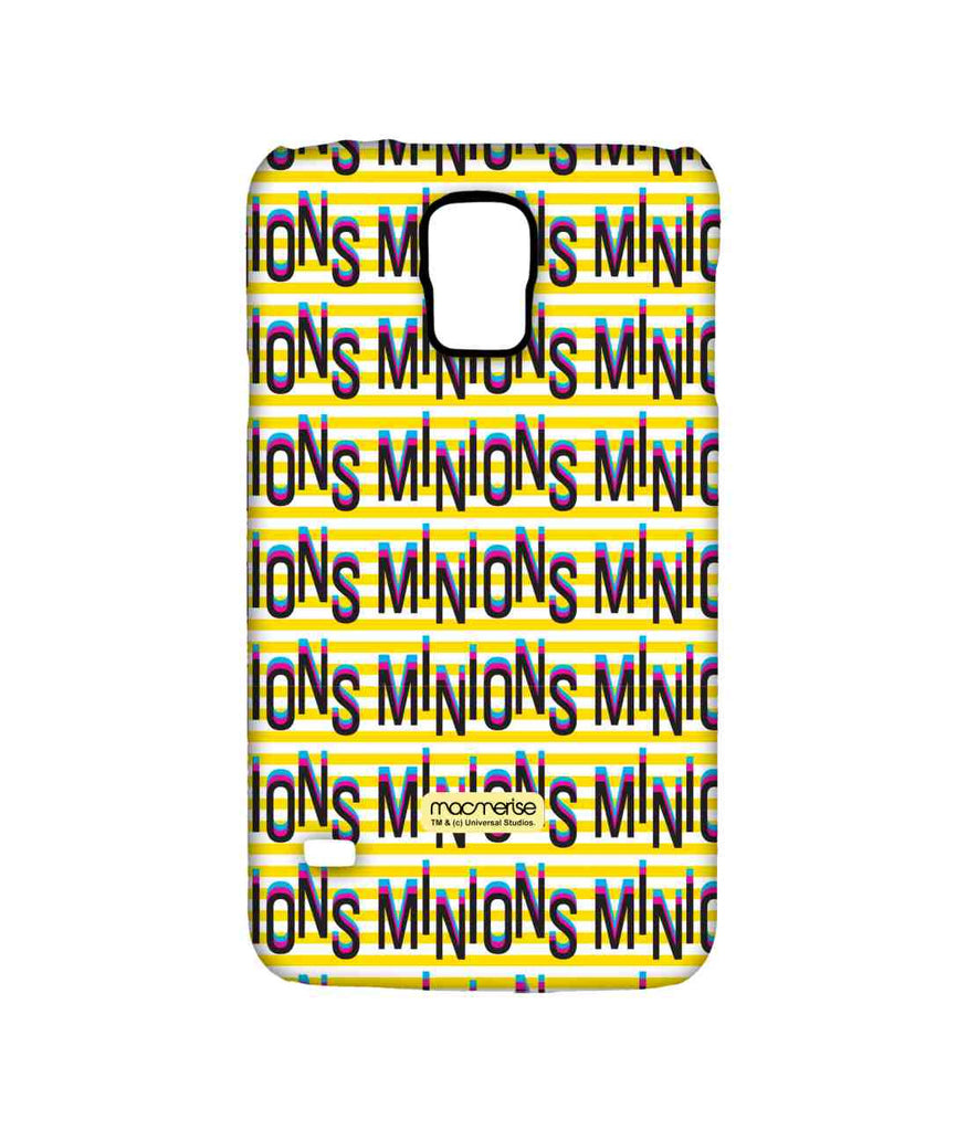 Despicable Me Minions Word Art Sublime Case for Samsung S5