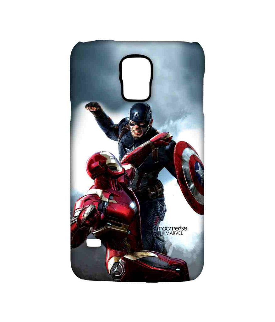 Captain America: Civil War Ironman and Captain America War is Here Sublime Case for Samsung S5