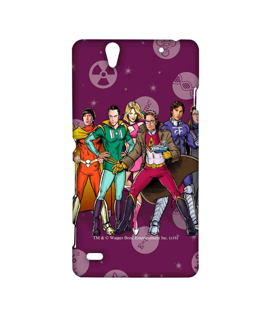 Big Bang Theory Leonard Sheldon Raj Howard and Penny BBT Superheroes Sublime Case for Sony Xperia C4