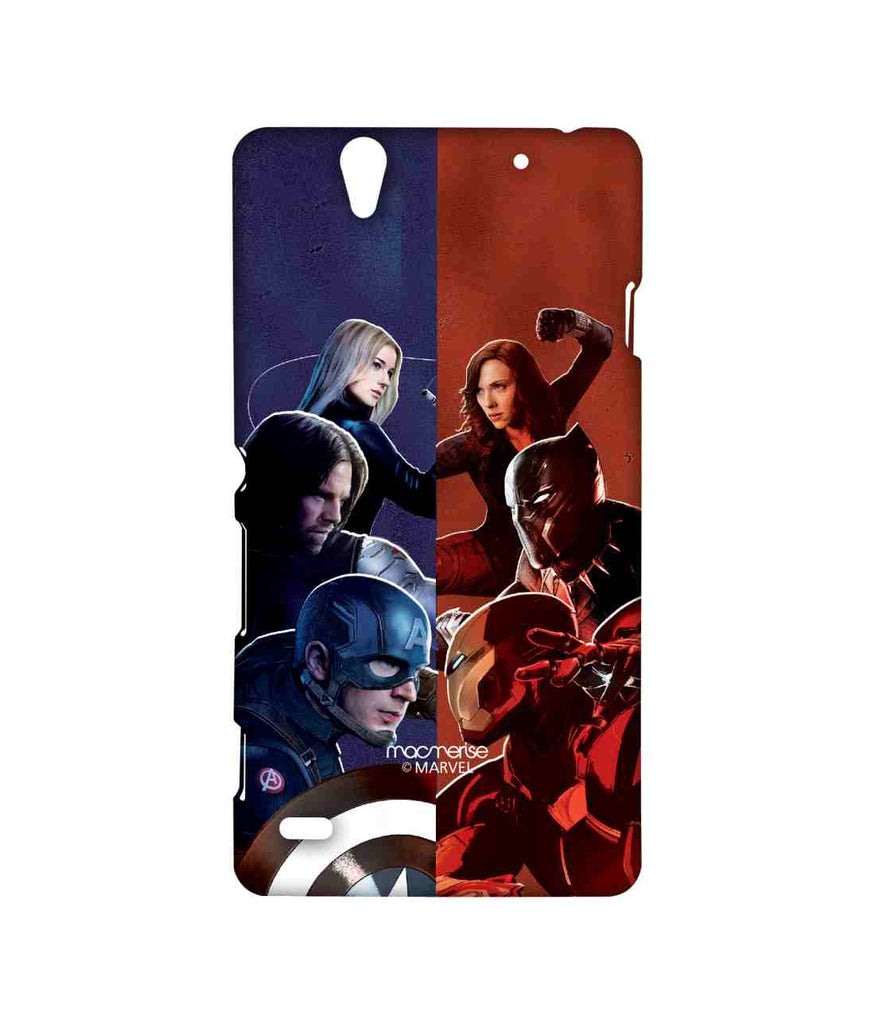 Captain America: Civil War Ironman Captain America Bucky Barnes Black Panther Black Widow and Agent 13 Good vs. Right Sublime Case for Sony Xperia C4