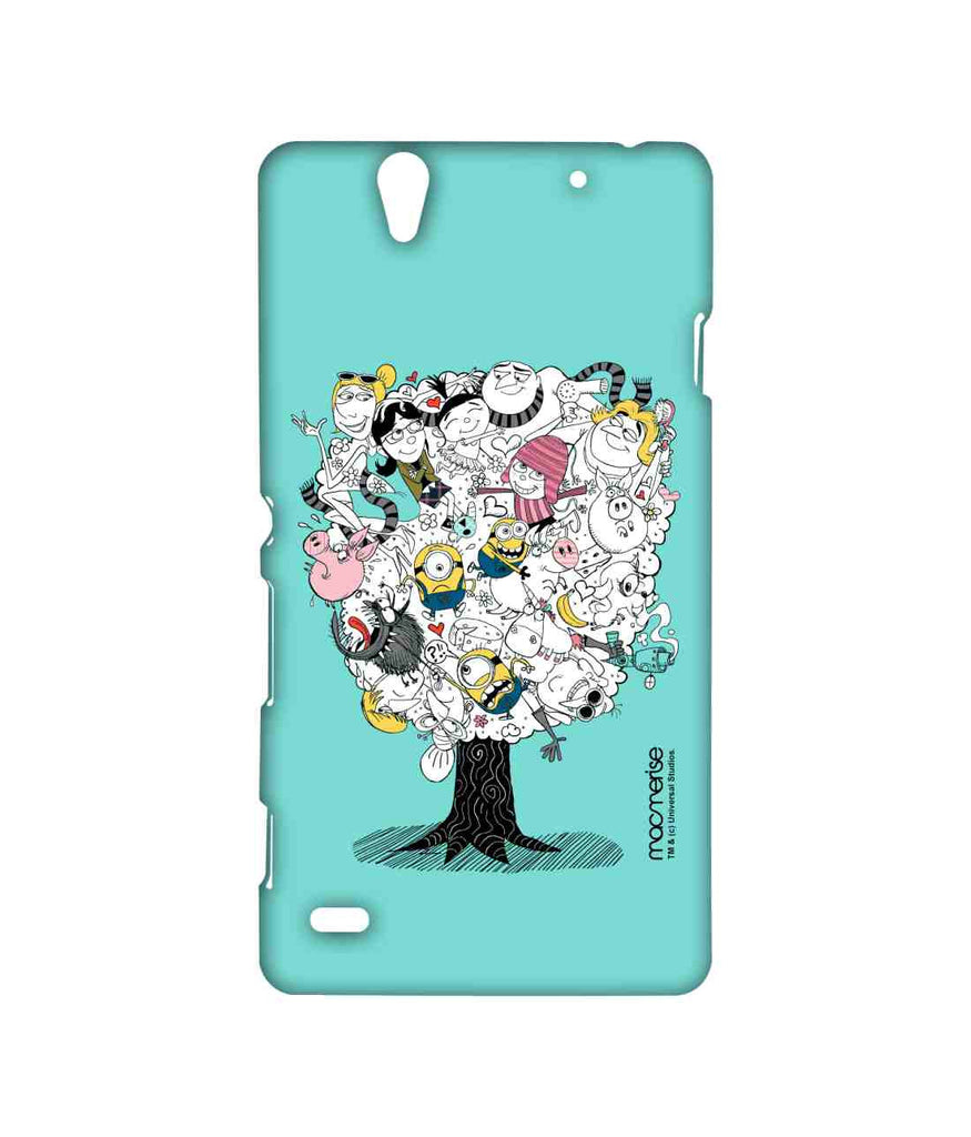 Despicable Me Gru Lucy Agnes Edith Margo Minions Professor Nefario and Grus Mom Grus Family Tree Sublime Case for Sony Xperia C4