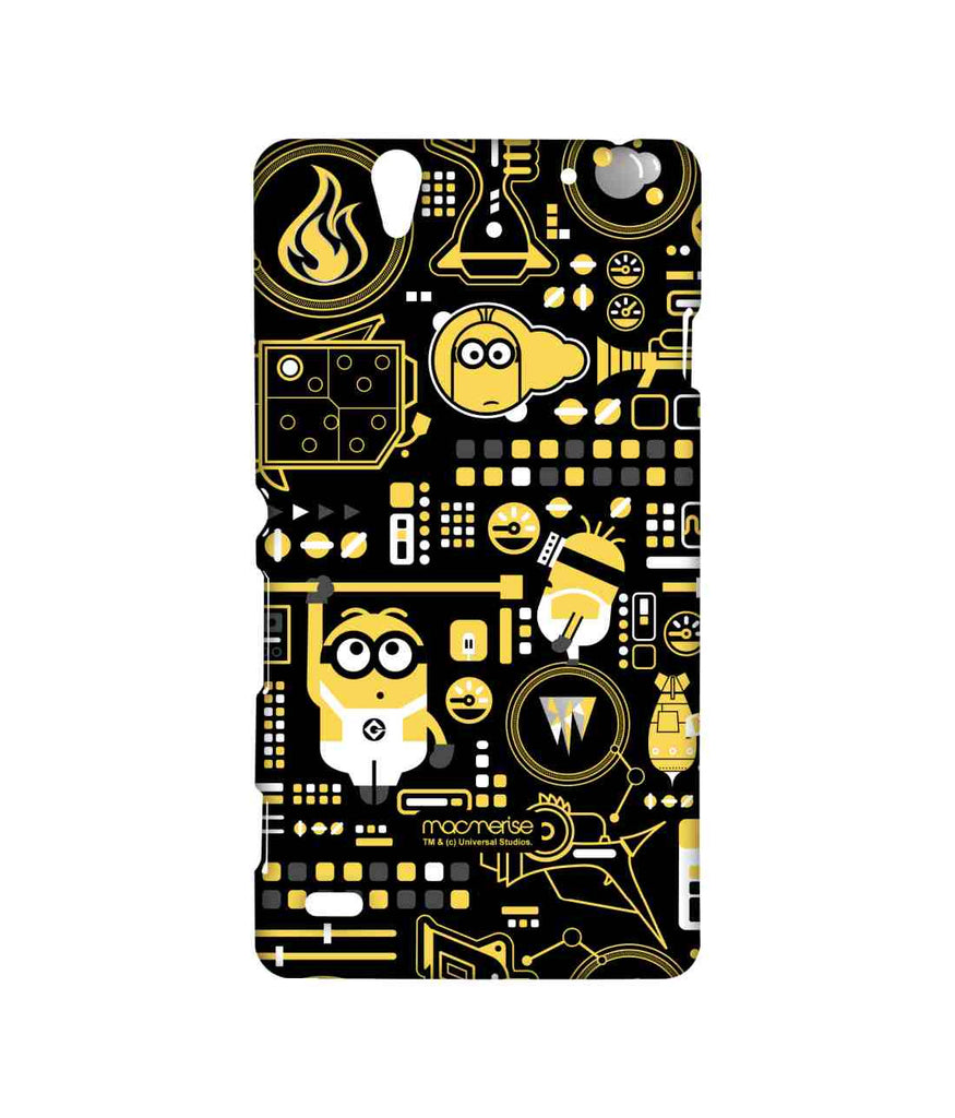 Despicable Me Minions Grus Work Mess Sublime Case for Sony Xperia C4