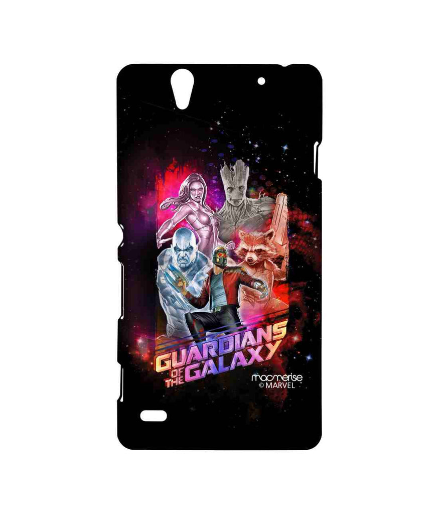 Guardians of the Galaxy Star Lord Groot Thanos Gamora and Rocket Raccoon Guardians Ensemble Sublime Case for Sony Xperia C4